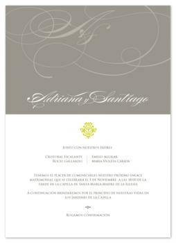 chocolate swirls Wedding Invitations