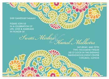 Modern Maharani Wedding Invitations