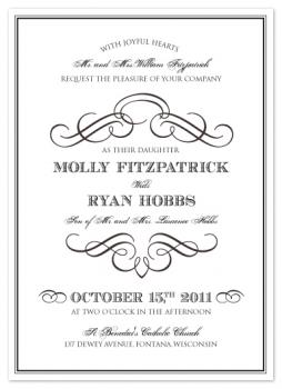 Vintage Classic Wedding Invitations