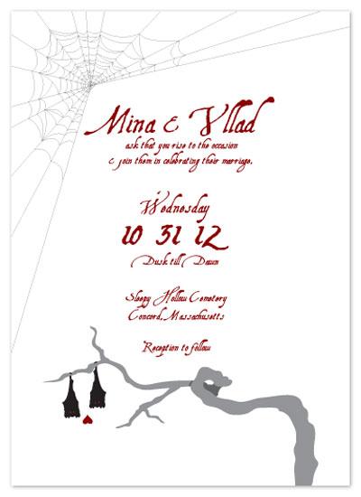 wedding invitations - Vampire Bat Wedding by KtRazz
