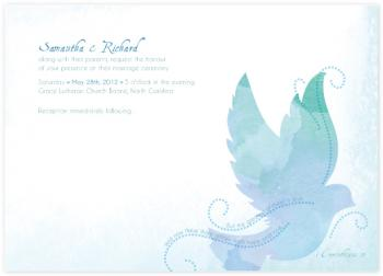 Heavenly Love Wedding Invitations