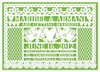 Pretty Papel Picado Wedding Invitations