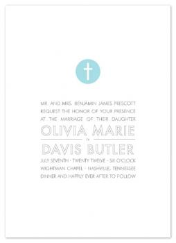 Simple Cross Wedding Invitations