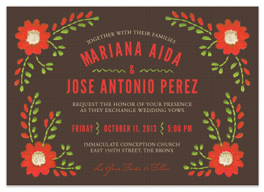 wedding invitations Mexican Ties by Sandy Pons