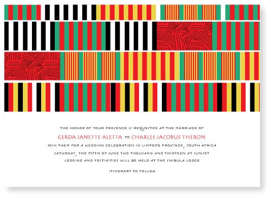 wedding invitations - daishiki by Marabou Design