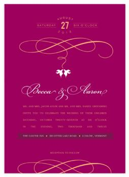 Dove Birds Wedding Invitations