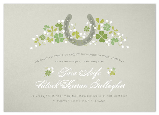 wedding invitations - Lucky Horseshoe by 2birdstone