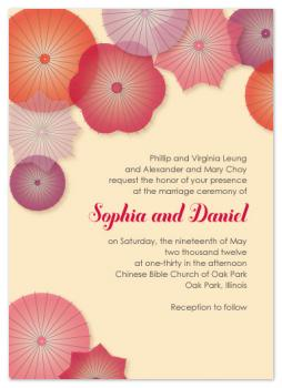 Parasol Perfect Wedding Invitations