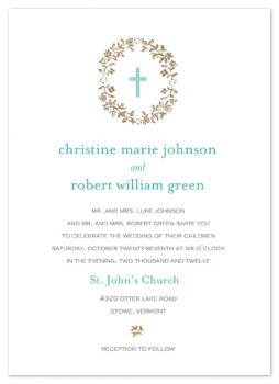 Christina Lace Christian Wedding Invitations