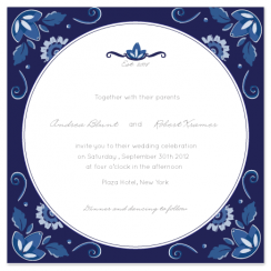 Delft Blue Love Wedding Invitations