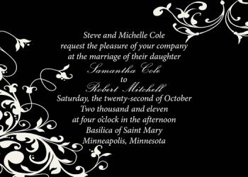 Classic Flourish Wedding Invitations