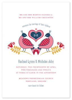 Distelfink Love Wedding Invitations