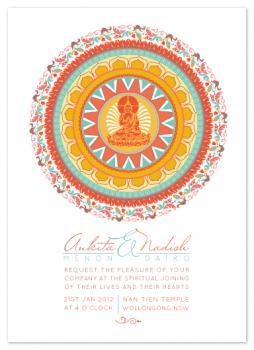 Spiritual Mandala Wedding Invitations
