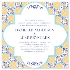 Spanish Tile Wedding Invitations