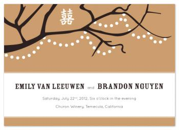 Wishes for Happiness Wedding Invitations