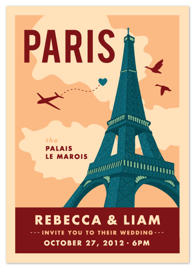 wedding invitations - Bonjour Paris by Yolanda Mariak Chendak