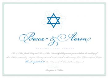 Star of David Royal Wedding Invitations