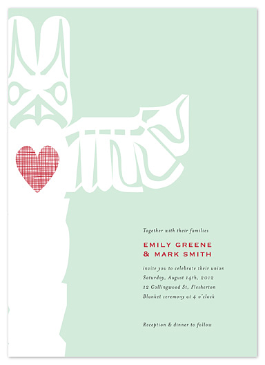 wedding invitations - Totem by Stacey Hill