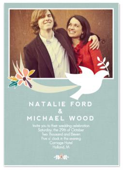 Wings of a Dove Wedding Invitations