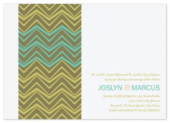 African Wedding Lines Wedding Invitations