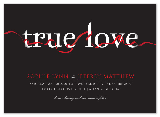 wedding invitations - True Love by Jacqueline Dziadosz