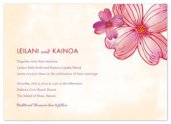 Lovely Luau Wedding Invitations