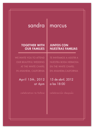 Simple Wedding Invitation Wording In Spanish Yaseen for