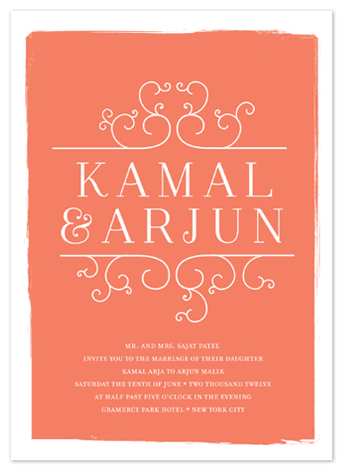 wedding invitations - darjeeling by annie clark
