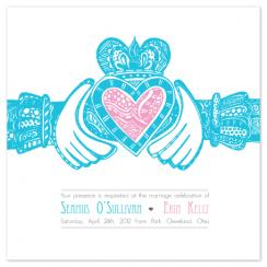 Irish Claddagh Wedding Invitations
