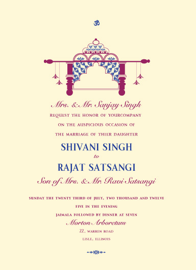 wedding invitations - BrideCarriage_doli by Gunjan Srivastava