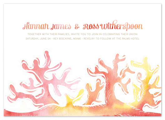wedding invitations - Coral Beach