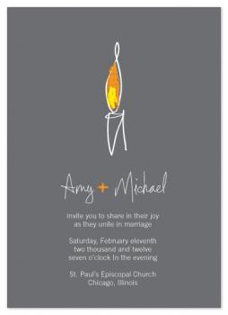 Unity Flame Wedding Invitations