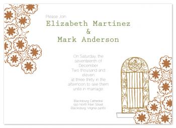 Proceed Through the Door Wedding Invitations