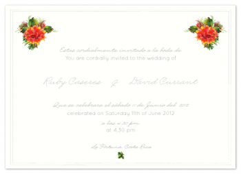 La Fortuna Love Wedding Invitations