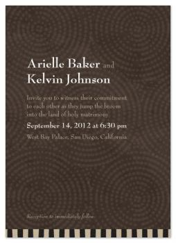 Java Batik Wedding Invitations