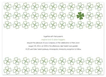 Modern Irish Love Wedding Invitations