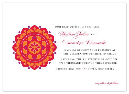 wedding invitations - Bright Rangoli by Sandra Picco Design