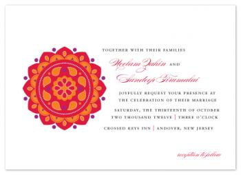 Bright Rangoli Wedding Invitations