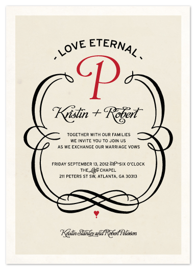 wedding invitations - Love Eternal by Shari Margolin
