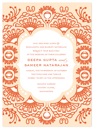 wedding invitations - Indian Blessings by Cheer Up Press
