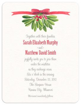 Under the Mistletoe Wedding Invitations