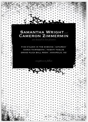 wedding invitations - Dark Romance by Heather.