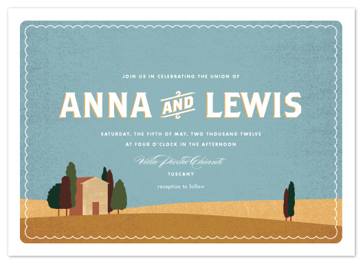 wedding invitations - Tuscan Hills by Olivia Raufman