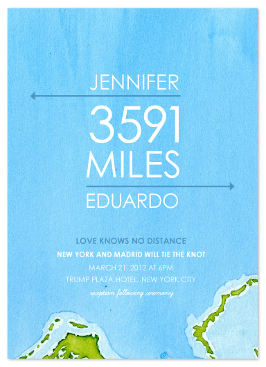wedding invitations - Miles of Love by Ana Gonzalez