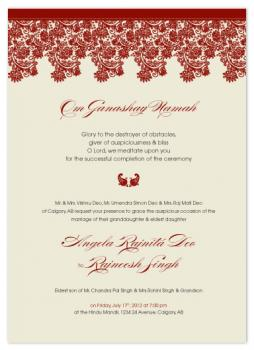 Om Ganashay Wedding Invitations