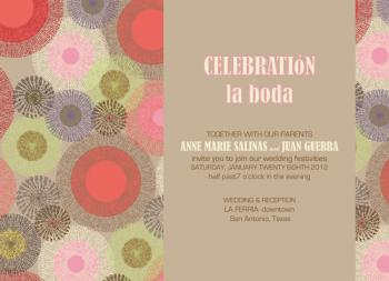 """Celebrate the Wedding"" Wedding Invitations"