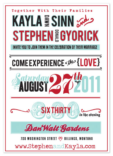 wedding invitations - signageinlove by Kayla Gyorick