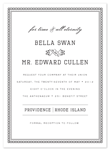 wedding invitations - for time and all eternity by j.bartyn