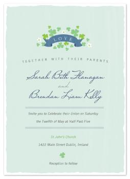 Lovin the Green Wedding Invitations