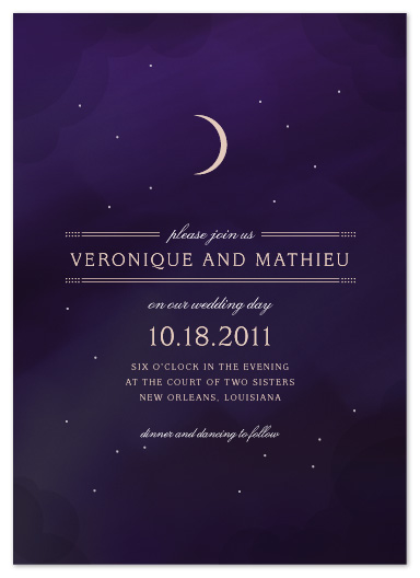 wedding invitations - Luna by Jody Wody